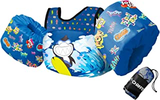 Chriffer Kids Swim Vest for 30-50 Pounds Boys and Girls, Toddler Floats with Shoulder Harness Arm Wings for 2,3,4,5,6,7 Ye...