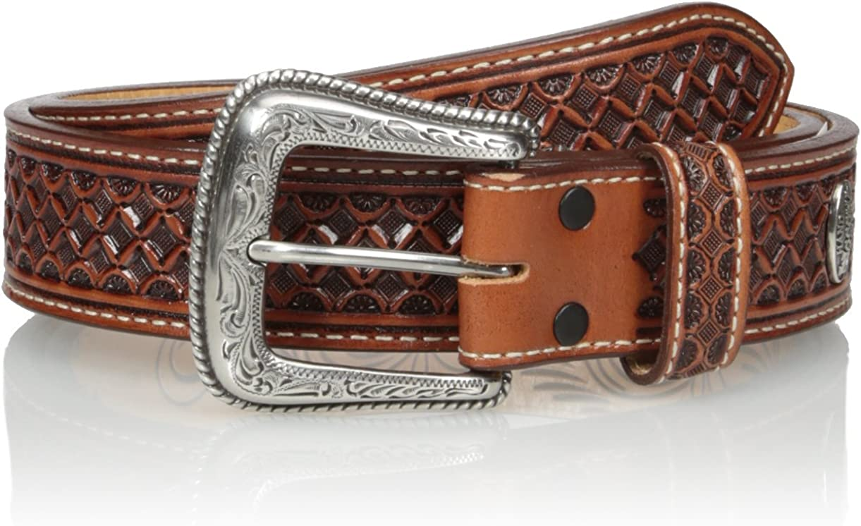 Nocona San Antonio Mall Men's Brown Mexican Tooled Clearance SALE! Limited time! Belt Basket