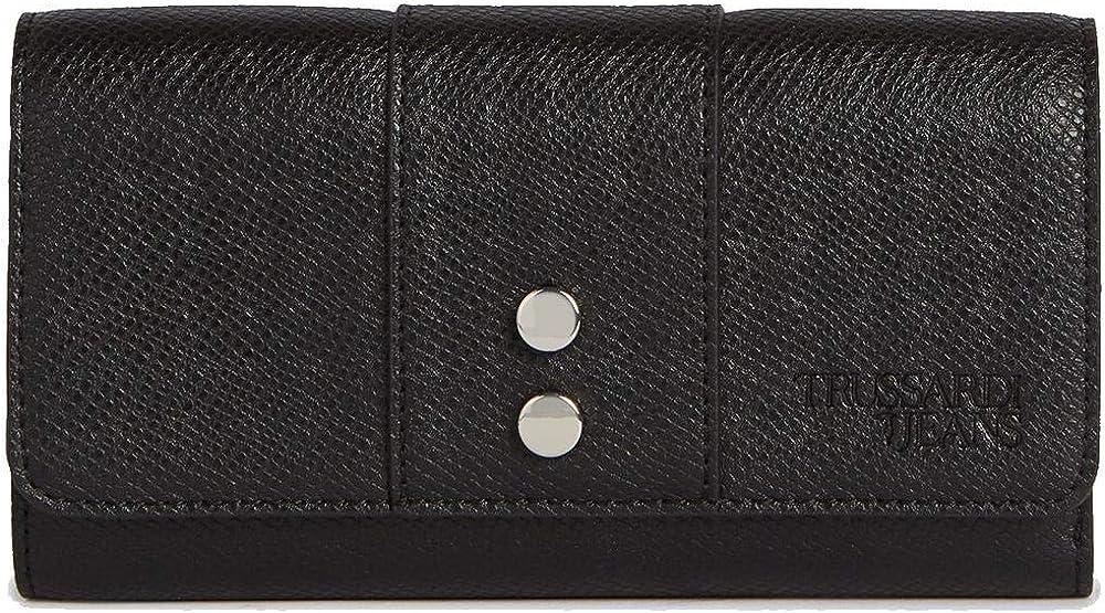 Trussardi jeans, portafogli, porta carte di credito,  in pelle ecologica 75W001239Y099999.K299
