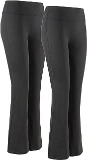 Women Boot Cut Yoga Pants 4 Way Stretch Bootleg Yoga Pants Leggings with Hidden Pockets
