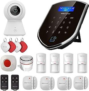 Sistema de alarma inteligente para el hogar con cámara de Wolf-Guard WM2GR sensor de ventana y de puerta detector de movimiento botón SOS RFID 2 G/GSM doble red