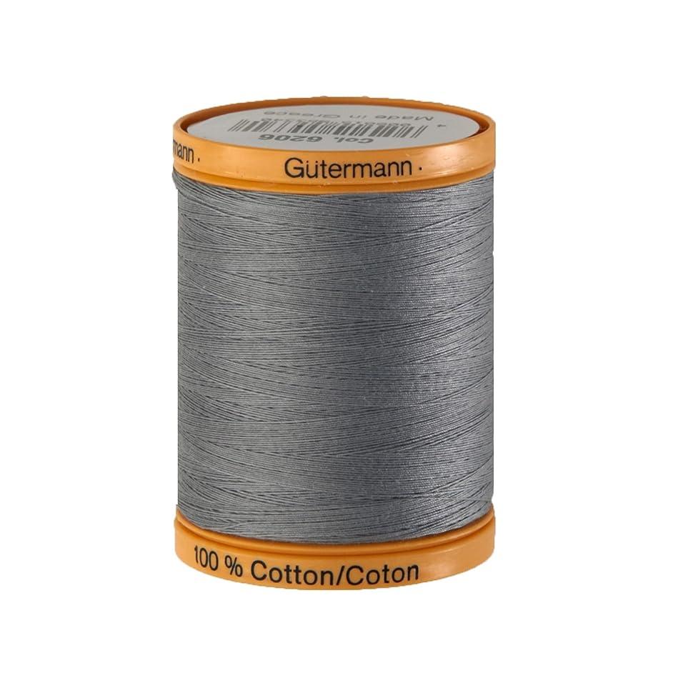 Gutermann Natural Cotton Thread, 800m/875 yd, Grey