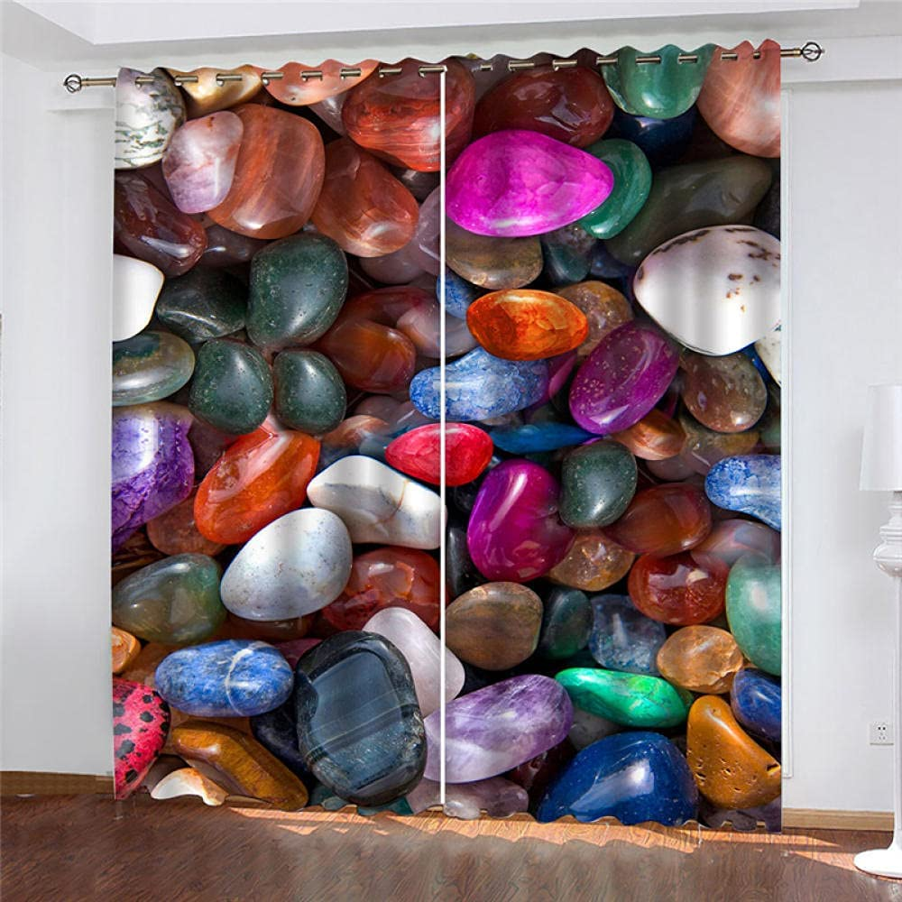 2 Panels Blackout Curtains Stones All items in the store Curtain Drap Colorful 2021new shipping free