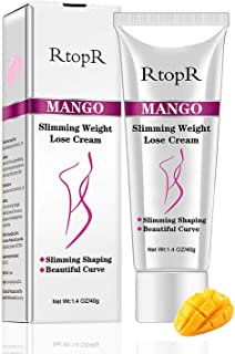 Slimming Cream for Tummy, Belly and Waist,Abdomen - Firming Cream - Hot Cream for Weight Loss - Anti Cellulite Cream And Stomach Fat Burner - Natural Ingredients (Mango)