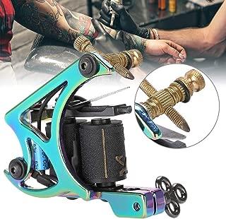 Professional Tattoo Coil Machine Gun, Rotary Tattoo Machine Shader & Liner, Wrap Coils Tattoo Machine Straight Shader Circle Liner, 10 Wrap Coils
