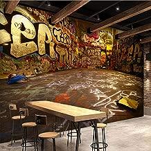 Afashiony Retro Graffiti 3D Stereo Color Letters Photo Mural Wallpaper Cafe Restaurant Ktv Spatial Extension Personality Fresco-350Cmx250Cm