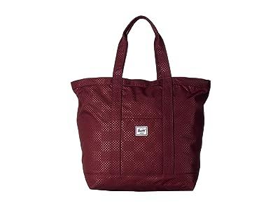 Herschel Supply Co. Bamfield Mid-Volume (Plum Dot Check) Tote Handbags