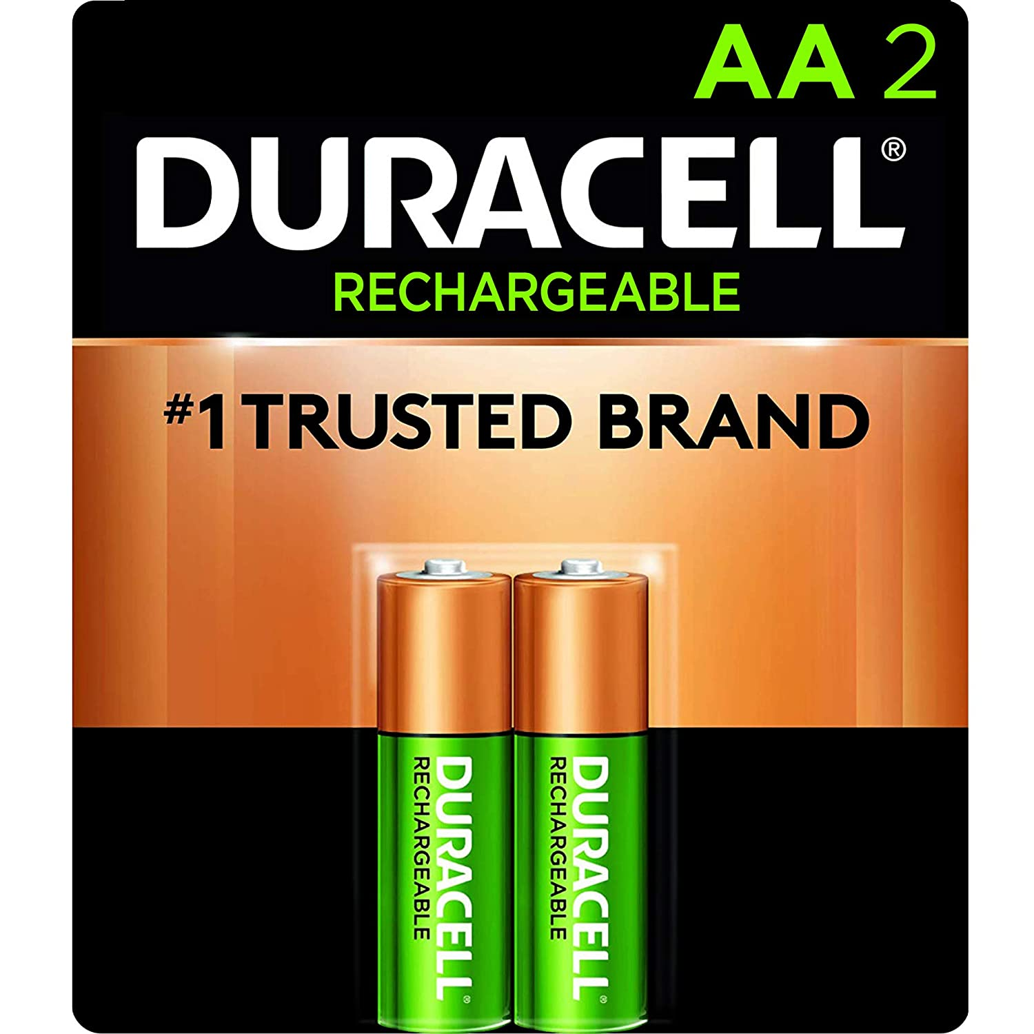 Amazon Com Duracell Rechargeable Aa Batteries Long Lasting All Purpose Double A Battery For Household And Business 2 Count Industrial Scientific