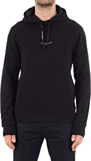 Men's Pull-Over Hooded Sweatshirt with Front Back Logo