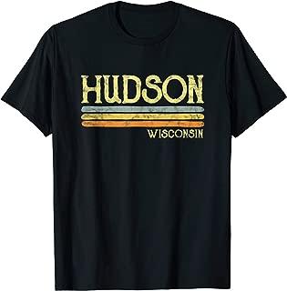 Vintage Hudson Wisconsin WI T-shirt Gift Love Souvenir
