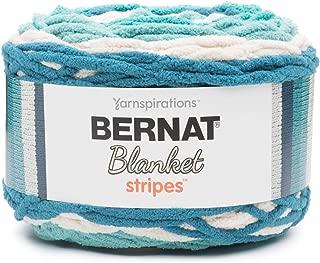 Bernat Blanket Stripes Yarn, 10.5 oz, Gauge 6 Super Bulky Chunky, Teal Deal