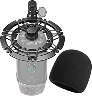 Blue Yeti X Shock Mount with Pop Filter, Alloy Shockmount with Foam Windscreen Reduces Vibration and Shock Noise Matching Boom Arm Mic Stand, Designed for Blue Yeti X Microphone by YOUSHARES