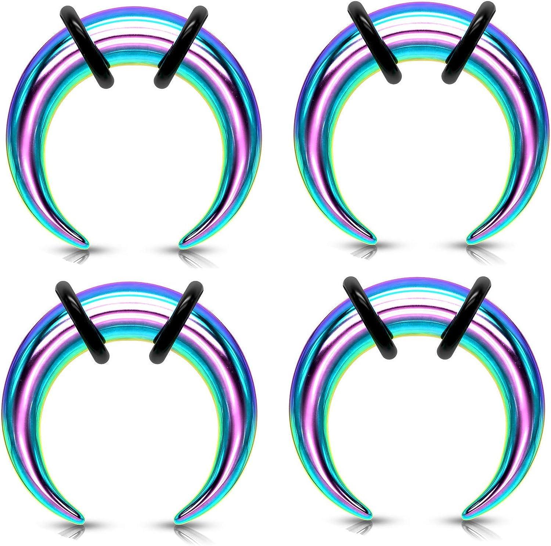 Regular dealer Zaya Body Jewelry 8g 10g 12g excellence 14g Ears Steel for Rainbow Pinchers