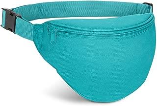 AirBuyW Waist Bag, Adjustable Waist 2 Zipper Travel Sport Running Fanny Pack Bag