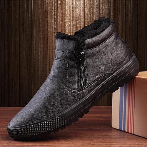 Coton chaud male hiver peluche coupe plus ¨ paisse pour aider ¨¤ augmenter la taille des bottes de neige , marron , 47