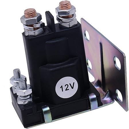 Mover Parts Starter Solenoid AM104036 for John Deere 108 111 116 116H 130 STX30 STX38 STX46 R72 R92 GX75 RX75 SX75 SRX75