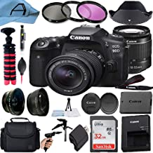 Canon EOS 90D DSLR Camera 32.5MP Sensor with 18-55mm Zoom Lens, SanDisk 32GB Memory Card, Bag, Tripod and A-Cell Accessory...