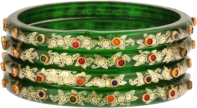 Efulgenz Fashion Jewelry Indian Bollywood Crystal Acrylic Resin Wedding White Bracelet Bangle Set