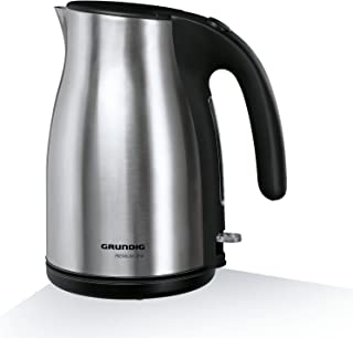 Grundig WK 5260 Premium-Wasserkocher (3000 Watt, 1,7 l), schwarz-silber