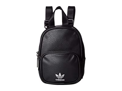 adidas Originals Originals Mini PU Leather Backpack (Black/Silver) Backpack Bags