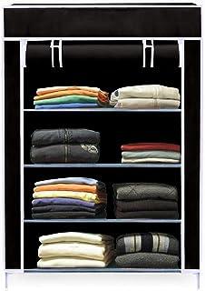 embross high Bond Plastic Mini Wardrobe (Black) 001