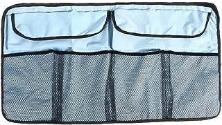 Vanpower Car Trunk Organizer Adjustable Backseat Bag Net High Capacity (Light Blue)