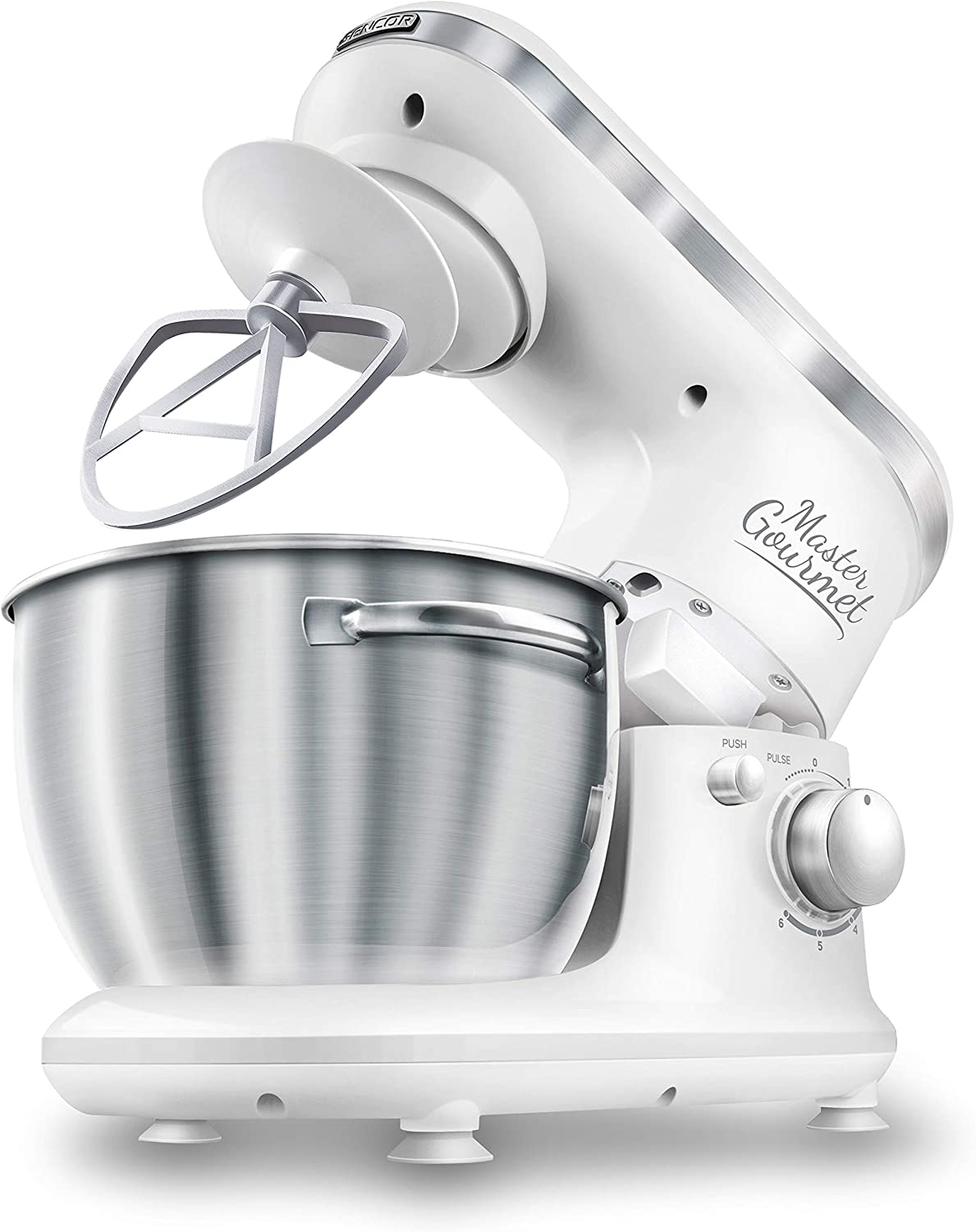 Sencor 6 Speed Stand Mixer with and Shield Pouring Specialized In a popularity Fashion 4