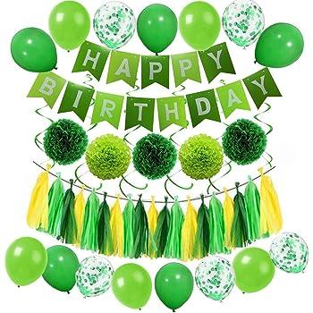 Confettis Joyeux Anniversaire Vert Excellence Generique