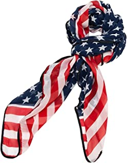 Trendy American Flag Chiffon Soft Scarf long Wrap Shawl US Seller
