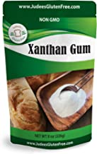 Judee's Xanthan Gum 8 oz - Non GMO, Keto Friendly, Gluten & Nut Free Dedicated Facility. Low Carb thickener for protein shakes, smoothies, gravies, salad dressings. Essential for gluten free baking.