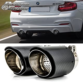 Rolling Gears Dry Carbon Fiber Exhaust Muffler Tips 3.5