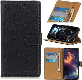 NEINEI Hoesje voor Motorola Moto E20 Case,Minimalistische PU Leer Hoes Case met [Magnetisch] [Kaartsleuf] [Bracket-Functi...