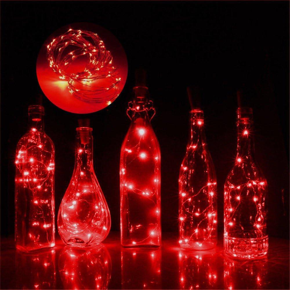 jgashf Catena di Luci a LED a Energia Solare 50 LED in Filo di Rame da 5 Metri per Matrimoni Feste e Natale per Esterni Rosso Illuminazione per Edifici da Giardino Decor