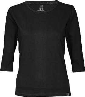 wackylicious Women's Pretty Colors Fashion 3/4 Half Sleeve T-Shirt