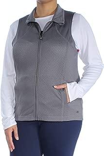 Perforated Zip-Front Vest