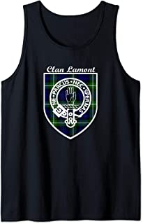 Lamont surname last name Scottish Clan tartan badge crest Tank Top