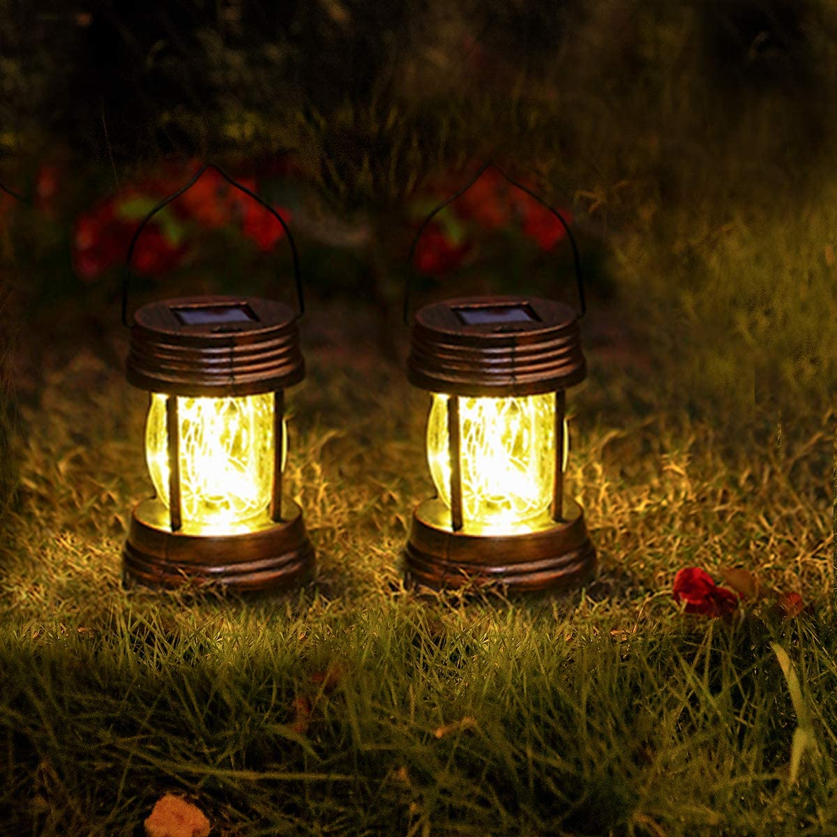 YUEFA Outdoor Hanging Solar Lantern Garden Pack Cheap mail order shopping of Sales for sale LED -2
