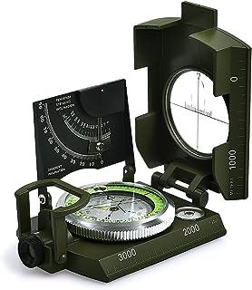 iitrust Brújula Militar Impermeable Profesional, Multifuncional Brújula Portátil para Acampada, Senderismo y Otras Actividades al Aire Libre,Color Verde