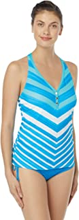 Beach House Women's Racer Back Snap Front Tankini Swimsuit Top