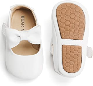 Bear Mall Infant Baby Girls Shoes Soft Rubber Sole Princess Dress Shoes Baby Walking Shoes(Infant/Toddler)