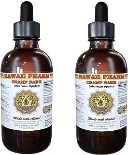 Cramp Bark Liquid Extract, Cramp Bark (Viburnum Opulus) Tincture Supplement 2x4 oz