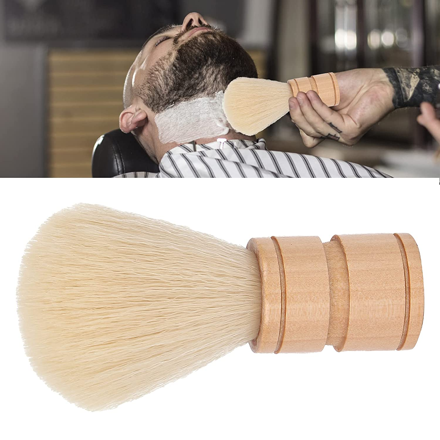 Shave Brush Wooden Handle Design Weight Max 66% OFF Light Ranking TOP14 for Shaving