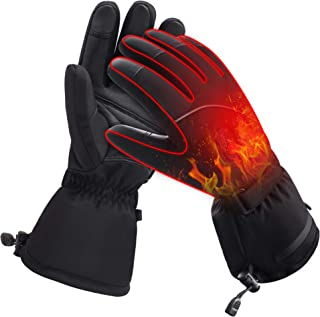 Men Woman Electric Gloves with Rechargeable Battery Thermal Heated Gloves for Men Women Perfect for Walking/Hiking/Sleeping/Riding