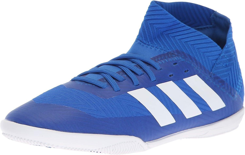 Adidas Unisex Nemeziz Tango Tango Tango 18.3 Inoor Soccer skor, Football blå  vit  svart, 4 M USA Big Kid  upp till 70%