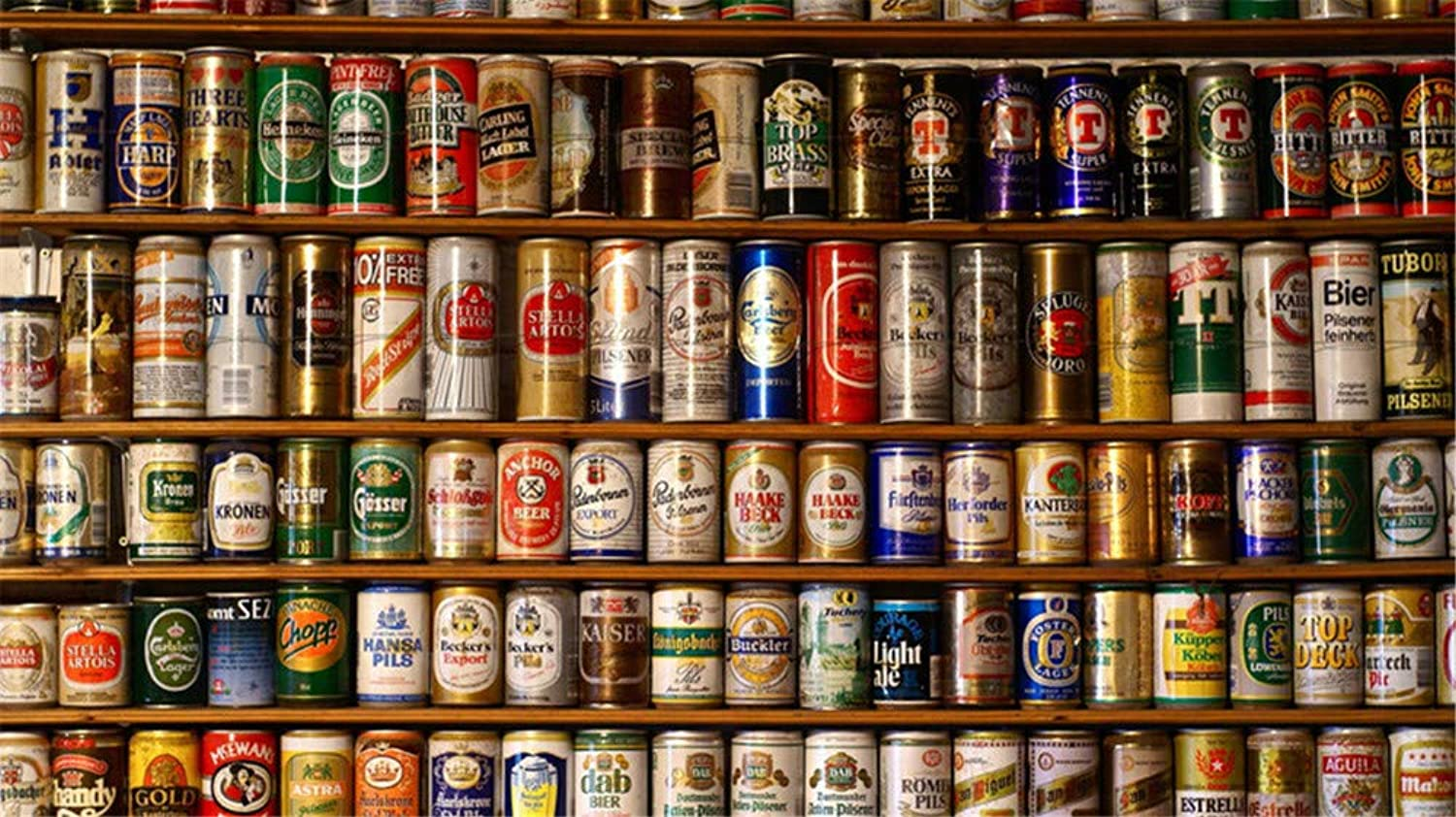 Jigsaw Puzzle 1000 Piece Wall of Beer Classic Puzzle DIY Kit Wooden Toy Unique Gift Home Decor