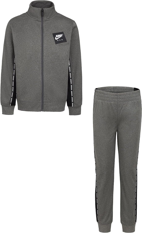 Jordan Boy`s Jumpman Logo Sideline Tape Full Zip Jacket & Pants 2 Piece Tracksuit