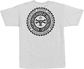 Hoonigan Brotherhood V2 Short Sleeve - Best Cool Graphic Tee for Mechanics, Gear-Heads, Car Truck Motorcycle Enthusiasts, Drifting, Race-Car Sports Fans Gift for Him