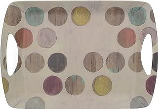Creative Tops 'Retro Spots' Large Melamine Serving Tray with Decorative Print, 47 x 33 cm (18.25