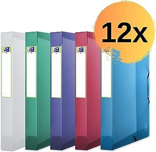 """'ELBA Boîte 4000713214cm""""2ème Life A4, PP Cover, 4couleurs bleu, violet, vert, incolore, recyclé Lot de 12Assorties"""