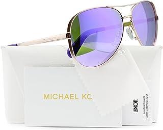 Michael Kors MK5004 Chelsea Aviator Sunglasses Rose Gold w/Purple Mirror (1003/4V) MK 5004 10034V 59mm Authentic